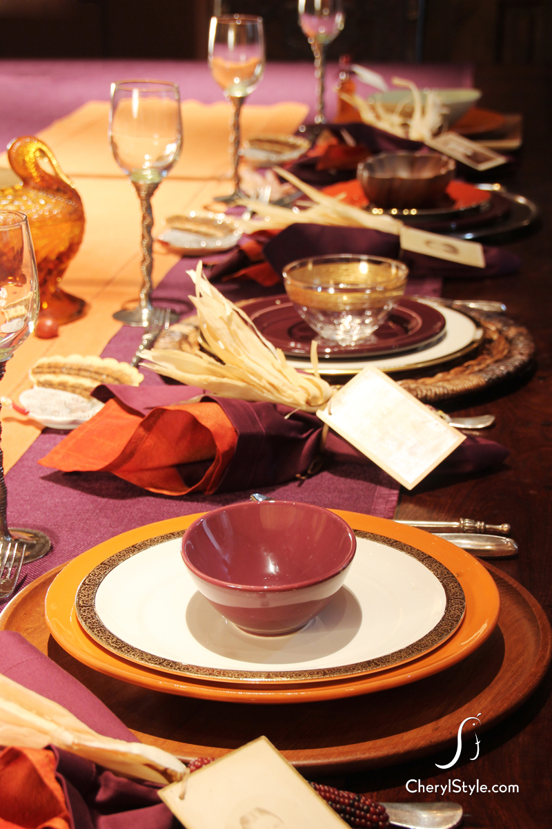 Thanksgiving Place Settings Everyday Dishes