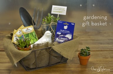 DIY garden lovers gift basket