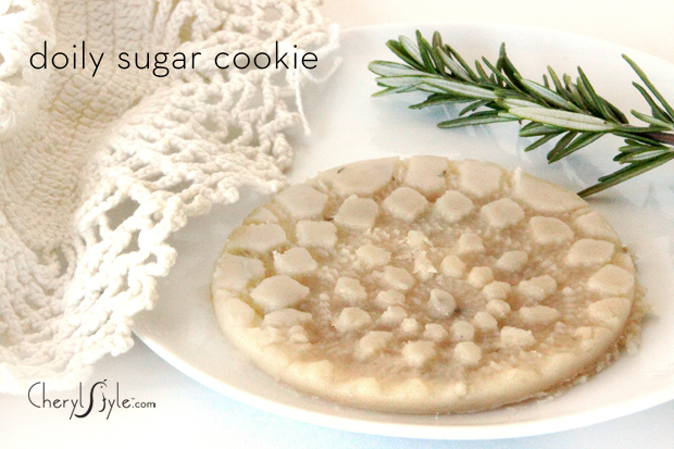 Doily pressed lemon rosemary sugar cookie recipe