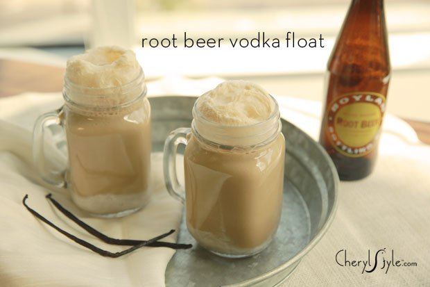 Creamy root beer cocktail
