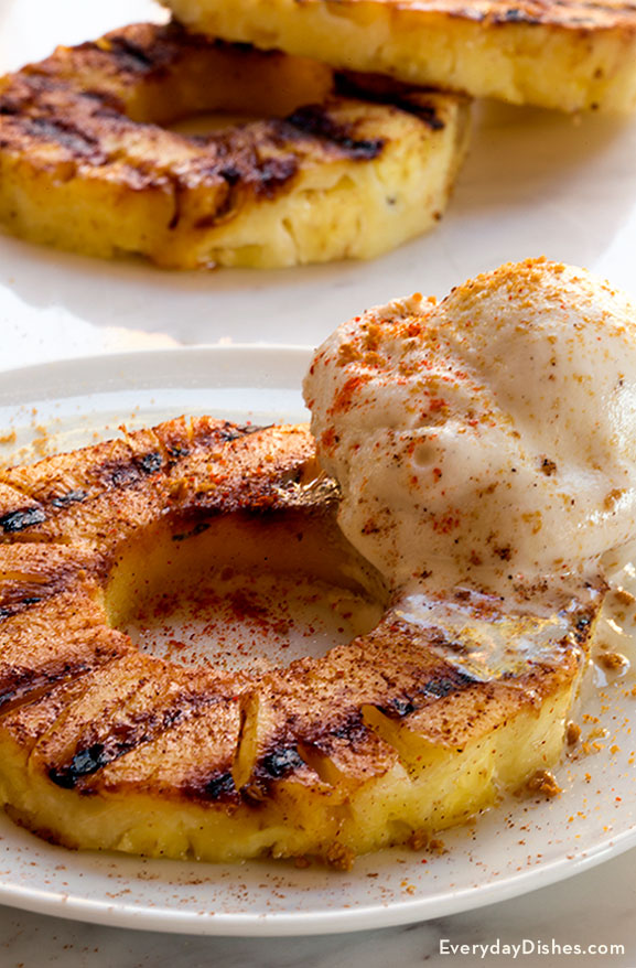 Grilled pineapple sundae recipe