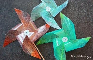 Learn how to make a pinwheel using transparency paper and glitter