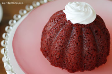 Red velvet mini cakes recipe