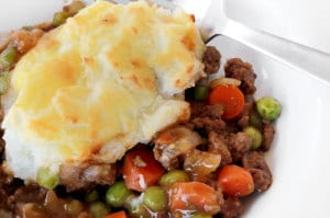 Shepherd's pie with beef and veggies