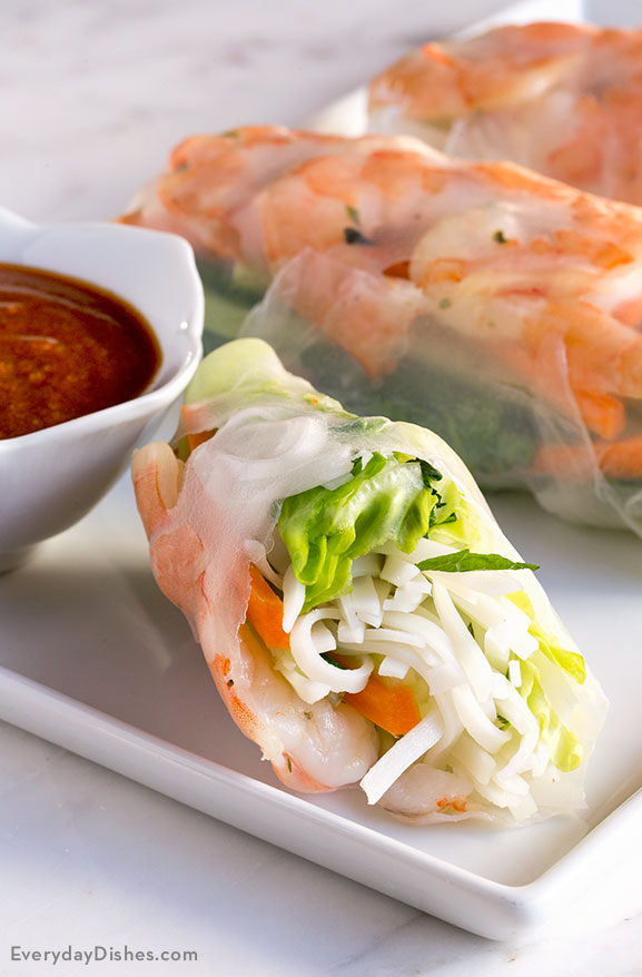 Fresh shrimp summer rolls recipe video