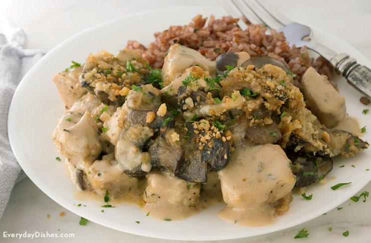 Mushroom Asiago Chicken Recipe