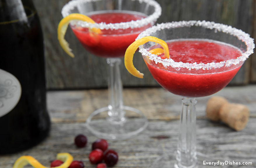Raspberry champagne punch
