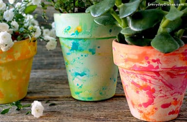 Splatter paint pots