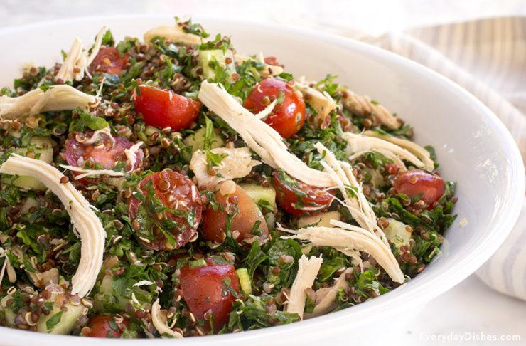 Quinoa tabbouleh salad recipe video