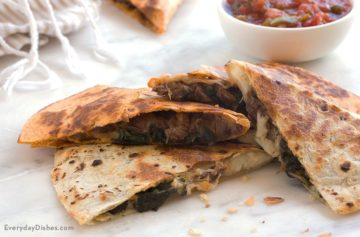 Steak and Spinach Quesadilla Recipe