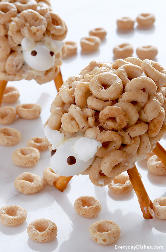 Cheerios sheep snacks recipe for Easter