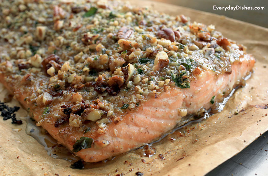 recipe: pecan crusted baked salmon [11]