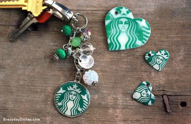 Coffee shop keychain craft