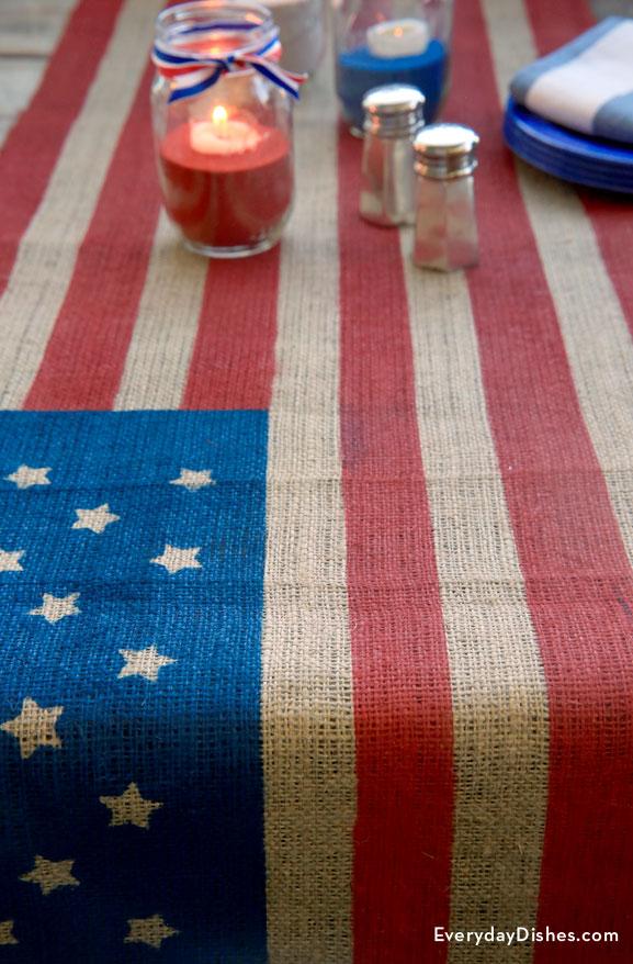 Patriotic DIY table runner