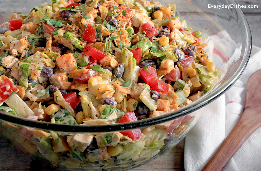 Tex-Mex chopped chicken salad recipe