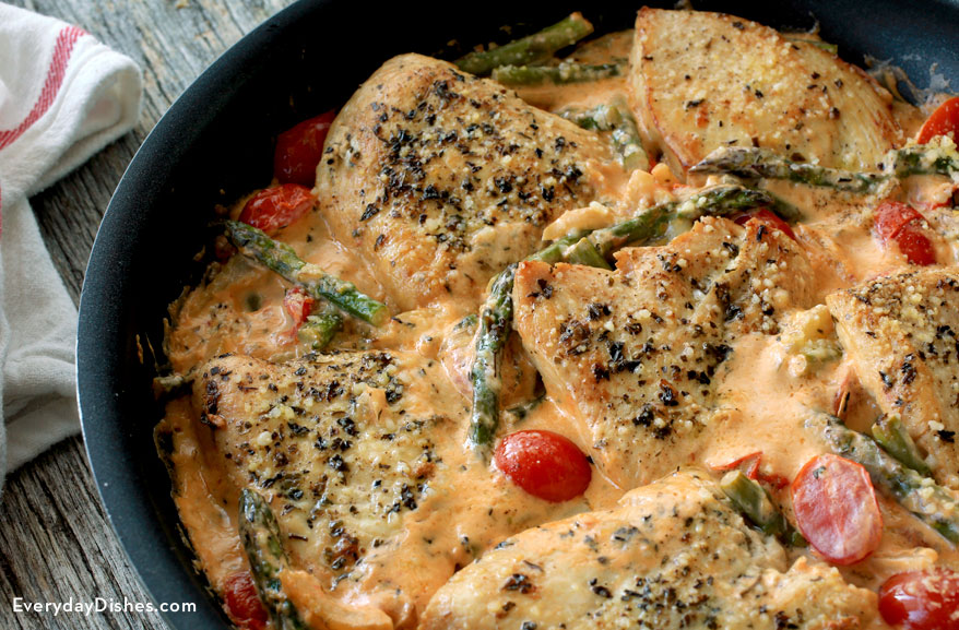 One-pan chicken with spring veggies recipe