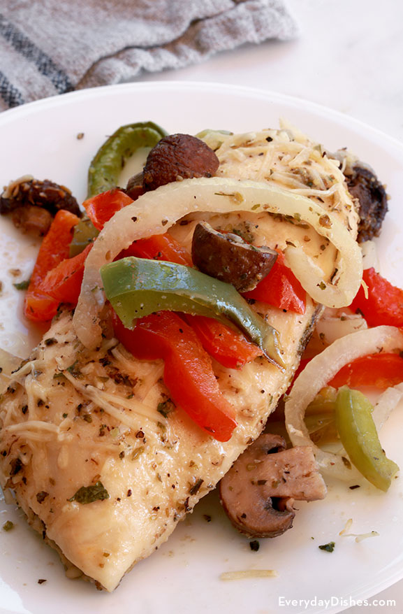 Baked italian chicken recipe with onions and peppers baked italian chicken recipe forumfinder Choice Image