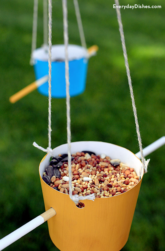 DIY bird feeder kids craft