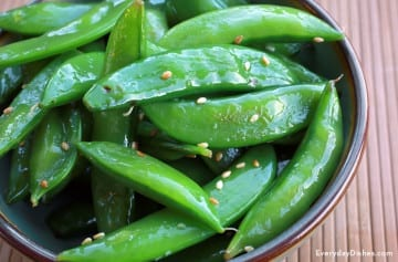 Sesame sugar snap peas recipe