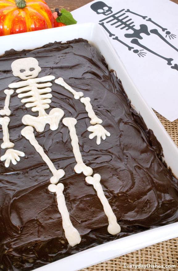 Sheet cake skeleton template