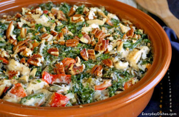 Leftover turkey casserole with kale and wild rice recipe