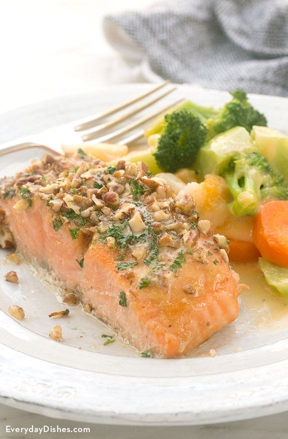 Pecan-Crusted Honey Mustard Salmon Recipe