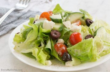 Mediterranean Salad with Yogurt Dressing Recipe