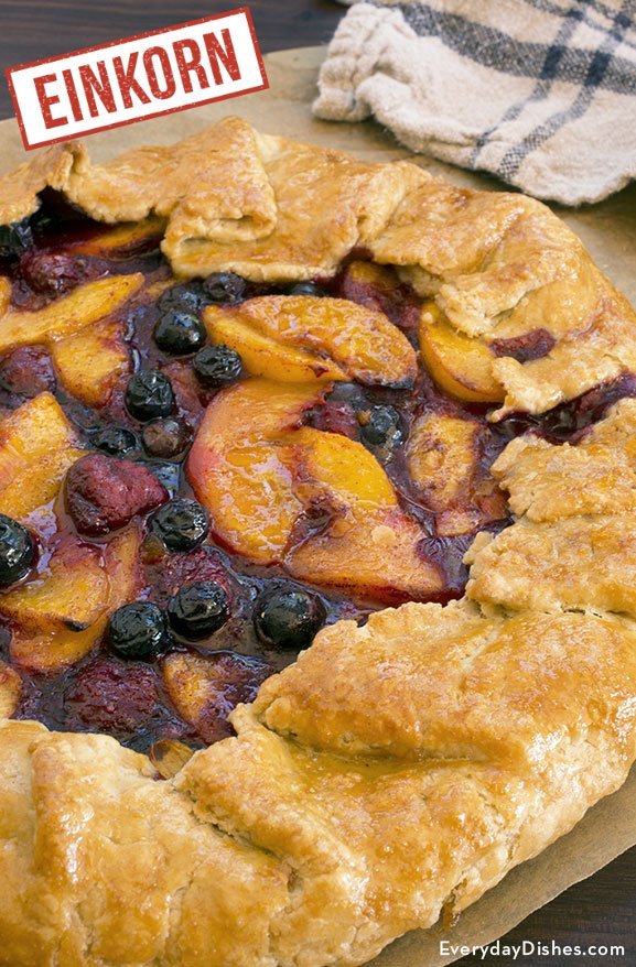 Einkorn rustic fruit tart recipe