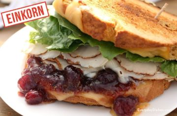 Leftover Turkey Sandwich with Gouda Cheese and Cranberry Sauce Recipe