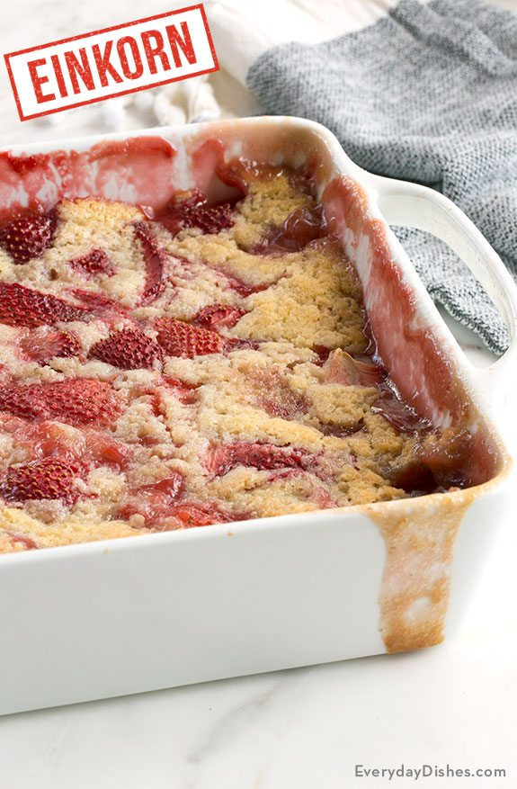 Einkorn Strawberry Cobbler Recipe