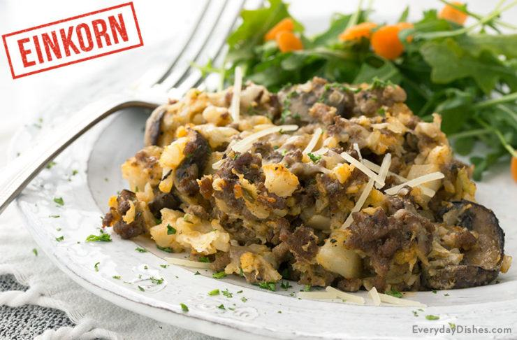 Low-Carb Einkorn Cauliflower Hamburger Casserole Recipe