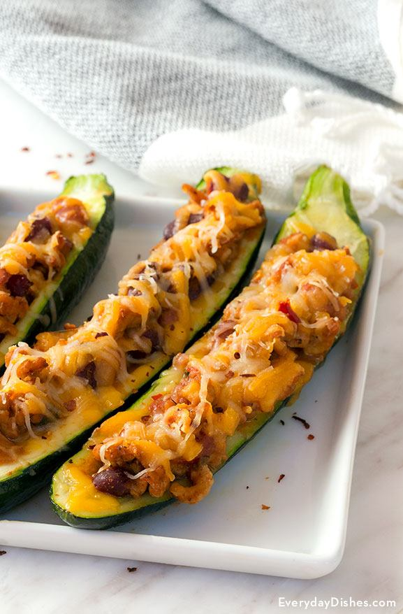 Chili Cheese Zucchini Boats Recipe