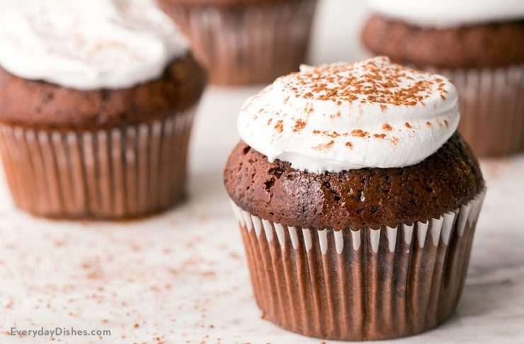 Chocolate Einkorn Cupcakes with Marshmallow Frosting Recipe