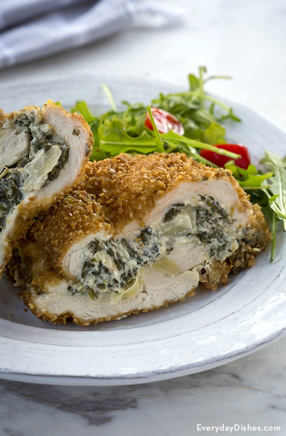 Spinach Artichoke Dip-Stuffed Chicken Recipe