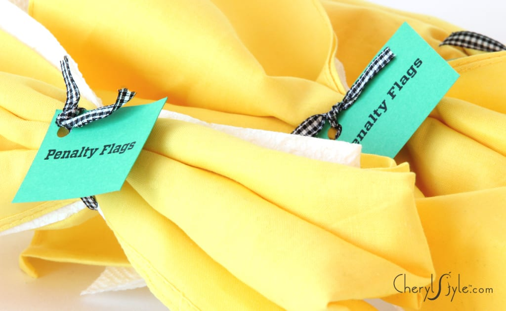 Game day DIY penalty flag napkins