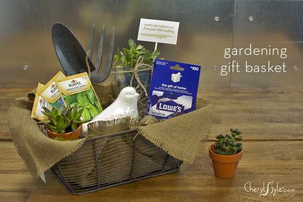 Garden Lovers Gift Basket Instructions