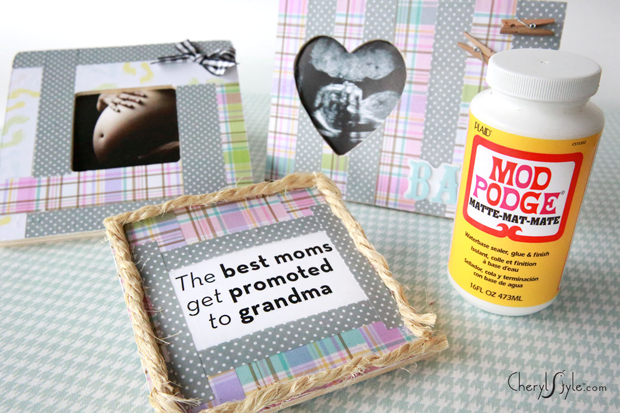 DIY baby shower gift for grandma