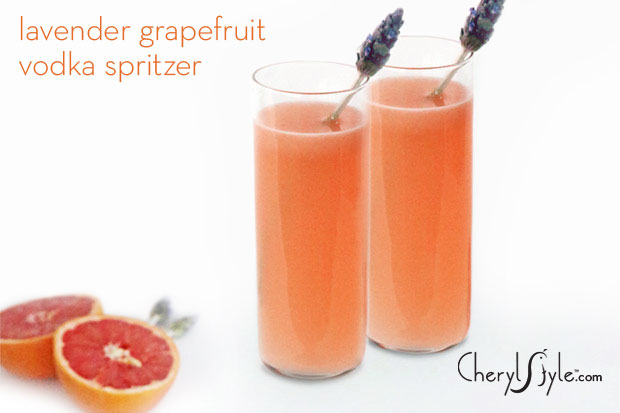 Lavender and grapefruit cocktail spritzer recipe