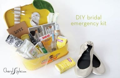 DIY bridal emergency kit