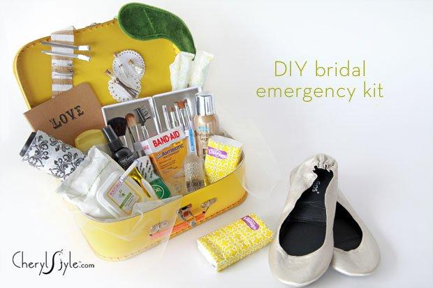 DIY bridal emergency kit for the big day