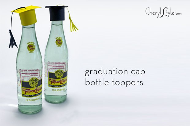 Very best DIY graduation cap bottle toppers - Everyday Dishes DQ13
