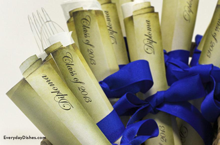 Printable graduation napkin wraps