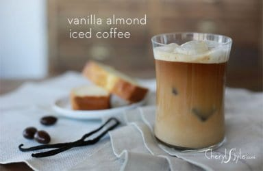 Vanilla almond iced coffee