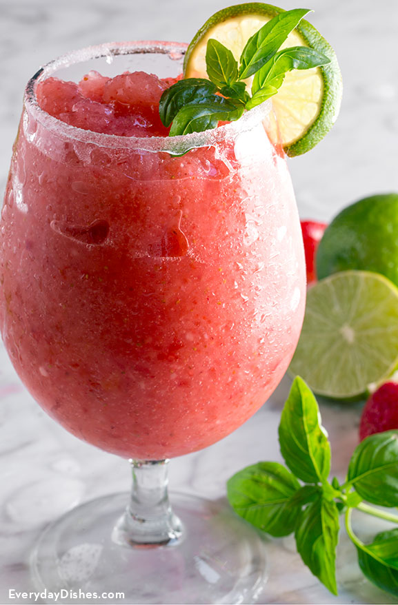 Strawberry basil daiquiri recipe