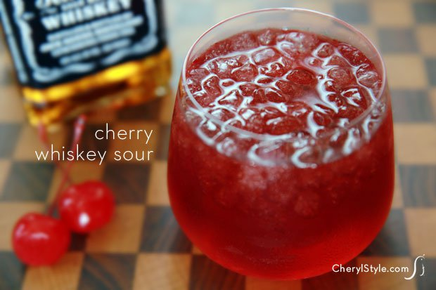 Break tradition with a cherry whiskey sour