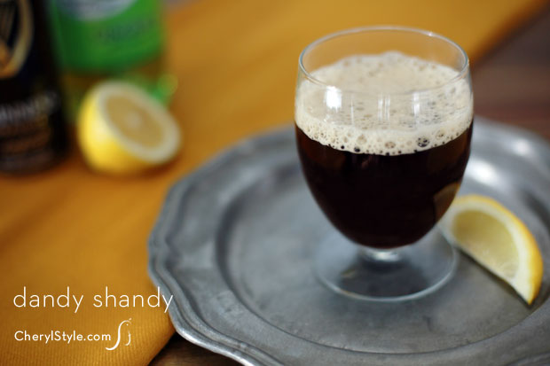 Stout beer cocktail aka dandy shandy