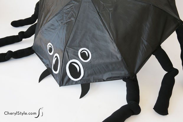 umbrella-spider-costume-cherylstyle-cheryl-najafi-Your trick-or-treater will be ready for rain or shine with our unique spider costume.