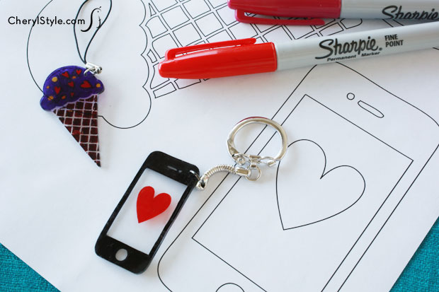 create your own Shrinky Dinks jewelry & accessories with our templates & artwork everydaydishes.com