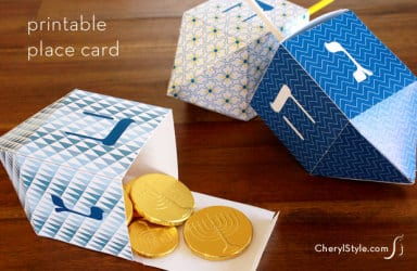 DIY Dreidel Printable Place Cards