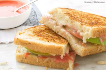 Gruyere Green Apple Grilled Cheese Sandwich